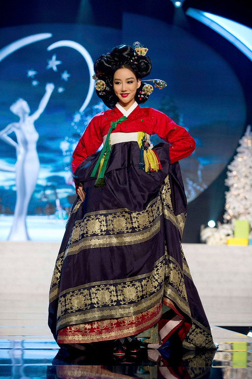 Description of . Miss Korea Sung-hye Lee performs onstage at the 2012 Miss Universe National Costume Show at PH Live in Las Vegas, Nevada December 14, 2012. The 89 Miss Universe Contestants will compete for the Diamond Nexus Crown on December 19, 2012. REUTERS/Darren Decker/Miss Universe Organization/Handout