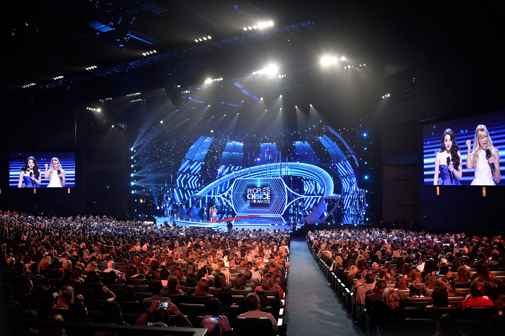 Description of . LOS ANGELES, CA - JANUARY 08:  General view of atmosphere at The 40th Annual People's Choice Awards at Nokia Theatre L.A. Live on January 8, 2014 in Los Angeles, California.  (Photo by Frazer Harrison/Getty Images for The People's Choice Awards)
