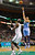 BOSTON, MA - FEBRUARY 10: JaVale McGee #34 of the Denver Nuggets takes a shot over Kevin Garnett #5 of the Boston Celtics during the game on February 10, 2013 at TD Garden in Boston, Massachusetts.  (Photo by Jared Wickerham/Getty Images)