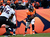 Denver Broncos running back Ronnie Hillman (21) makes a run in the second quarter for an 8-yard game. The Denver Broncos vs Baltimore Ravens AFC Divisional playoff game at Sports Authority Field Saturday January 12, 2013. (Photo by AAron  Ontiveroz,/The Denver Post)