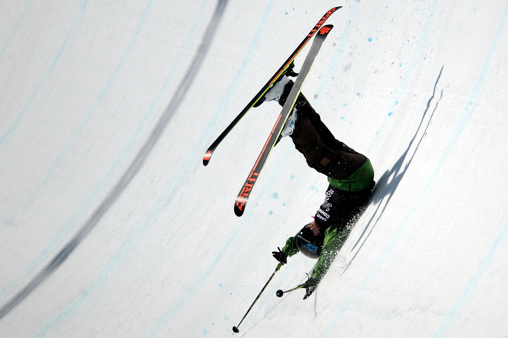 Description of . Keltie Hansen wrecks during the skiing super pipe final at Winter X Games 2012 at Buttermilk Mountain in Aspen on Saturday, January 28. AAron Ontiveroz, The Denver Post