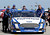 DAYTONA BEACH, FL - FEBRUARY 20:  Crew members push the #99 Fastenal Ford of Carl Edwards through the garage area during practice for the NASCAR Sprint Cup Series Daytona 500 at Daytona International Speedway on February 20, 2013 in Daytona Beach, Florida.  (Photo by Jerry Markland/Getty Images)
