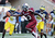 Wide receiver Bruce Ellington #23 of the South Carolina Gamecocks grabs a 32-yard, game-winning touchdown pass in the fourth quarter against the Michigan Wolverines in the Outback Bowl January 1, 2013 at Raymond James Stadium in Tampa, Florida.  South Carolina won 33 - 28. (Photo by Al Messerschmidt/Getty Images)