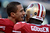 Quarterback Colin Kaepernick #7 of the San Francisco 49ers talks with linebacker Tavares Gooden #56 during warm ups prior to the NFC Divisional Playoff Game against the Green Bay Packers at Candlestick Park on January 12, 2013 in San Francisco, California.  (Photo by Harry How/Getty Images)
