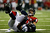 Tony Gonzalez #88 of the Atlanta Falcons catches a reception against the defense of  Winston Guy #27 of the Seattle Seahawks during the NFC Divisional Playoff Game at Georgia Dome on January 13, 2013 in Atlanta, Georgia.  (Photo by Kevin C. Cox/Getty Images)