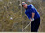 British golfer Luke Donald chips onto the first green against German golfer Marcel Siem during the weather delayed first round of the WGC-Accenture Match Play Championship golf tournament in Marana, Arizona February 21, 2013. REUTERS/Matt Sullivan