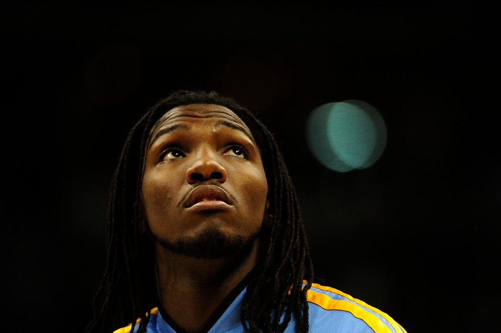 Description of . Denver Nuggets small forward Kenneth Faried (35) during the first half at the Pepsi Center on Wednesday, December 26, 2012. AAron Ontiveroz, The Denver Post