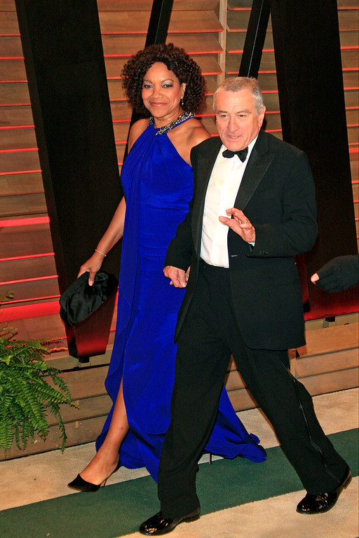 Description of . Robert DeNiro and wife Grace Hightower arrive for the Vanity Fair Oscar After-Party following the 86th annual Academy Awards ceremony in Hollywood, Los Angeles, California, USA, 02 March 2014.  EPA/NINA PROMMER