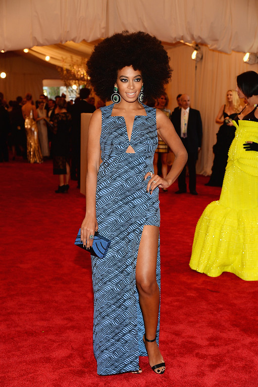 Description of . Solange Knowles attends the Costume Institute Gala for the