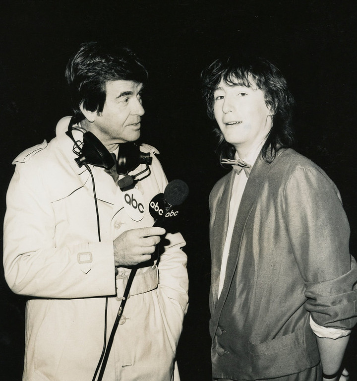 Description of . NYRE 1985 Dick Clark and Julian Lennon