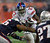 Brandon Jacobs (C) of the New York Giants runs with the ball during Super Bowl XLII against the New England Patriots at the University of Phoenix Stadium 03 February 2008 in Glendale, Arizona. TIMOTHY A. CLARY/AFP/Getty Images