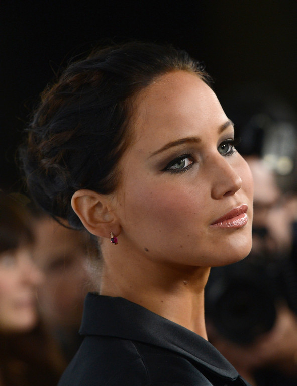 """. Actress Jennifer Lawrence attends a screening of The Weinstein Company\'s \""""Silver Linings Playbook\"""" at the Academy of Motion Picture Arts and Sciences on November 19, 2012 in Beverly Hills, California.  (Photo by Kevin Winter/Getty Images)"""
