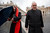 Canadian Cardinal Marc Ouellet, left, holds on to his umbrella next to Argentine Cardinal Jorge Mario Bergoglio as they walk in St. Peter's Square after attending a cardinals' meeting, at the Vatican, Wednesday, March 6, 2013. Cardinals are meeting to discuss the problems of the church and to get to know one another because there is no clear front-runner in the election of the new pope. (AP Photo/Andrew Medichini)