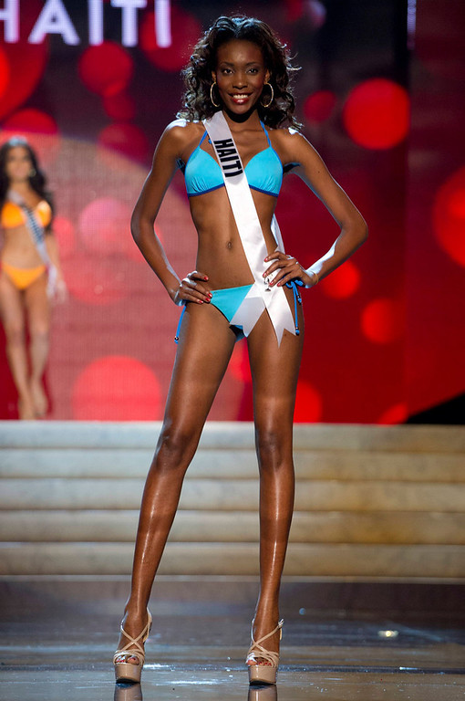 Description of . Miss Haiti 2012 Christela Jacques competes during the Swimsuit Competition of the 2012 Miss Universe Presentation Show at PH Live in Las Vegas, Nevada December 13, 2012. The Miss Universe 2012 pageant will be held on December 19 at the Planet Hollywood Resort and Casino in Las Vegas. REUTERS/Darren Decker/Miss Universe Organization L.P/Handout