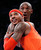 New York Knicks Carmelo Anthony and Los Angeles Lakers' Kobe Bryant (rear) fight for position on a free throw during the second half of their NBA basketball game in Los Angeles December 25, 2012. REUTERS/Danny Moloshok