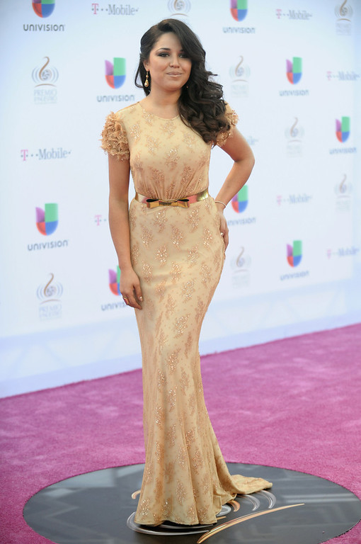 Description of . Gredmarie Colon arrives at the 25th Anniversary of Univision's