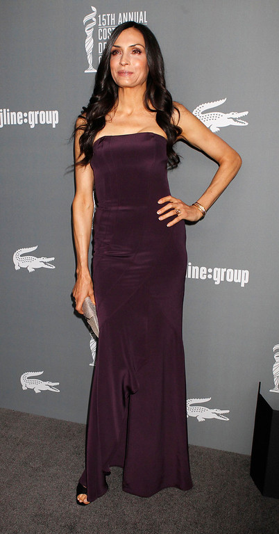 Description of . Actress Famke Janssen arrives at the 15th Annual Costume Designers Guild Awards in Beverly Hills  February 19, 2013. REUTERS/Fred Prouser