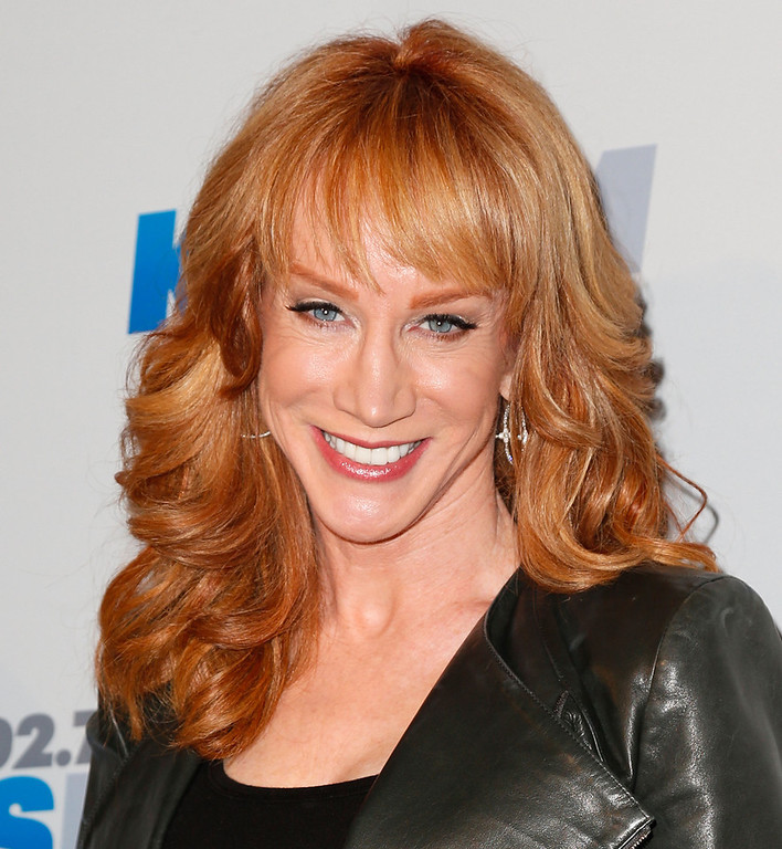 Description of . Comedienne Kathy Griffin attends KIIS FM's 2012 Jingle Ball at Nokia Theatre L.A. Live on December 3, 2012 in Los Angeles, California.  (Photo by Imeh Akpanudosen/Getty Images)