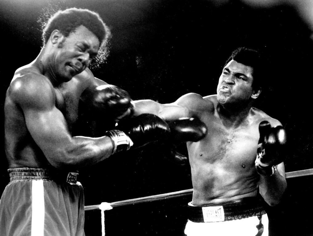 Description of . Muhammad Ali's eighth-round knockout victory over George Foreman will be shown on home television for the first time. 1974