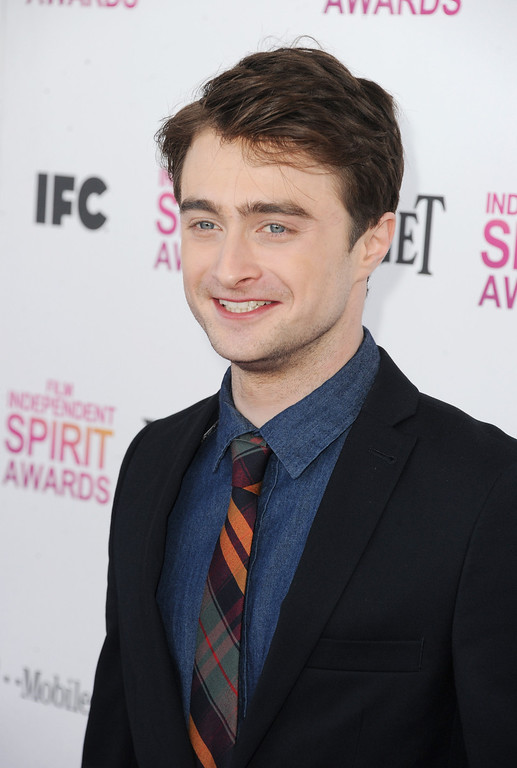 Description of . SANTA MONICA, CA - FEBRUARY 23:  Actor Daniel Radcliffe attends the 2013 Film Independent Spirit Awards at Santa Monica Beach on February 23, 2013 in Santa Monica, California.  (Photo by Kevin Winter/Getty Images)
