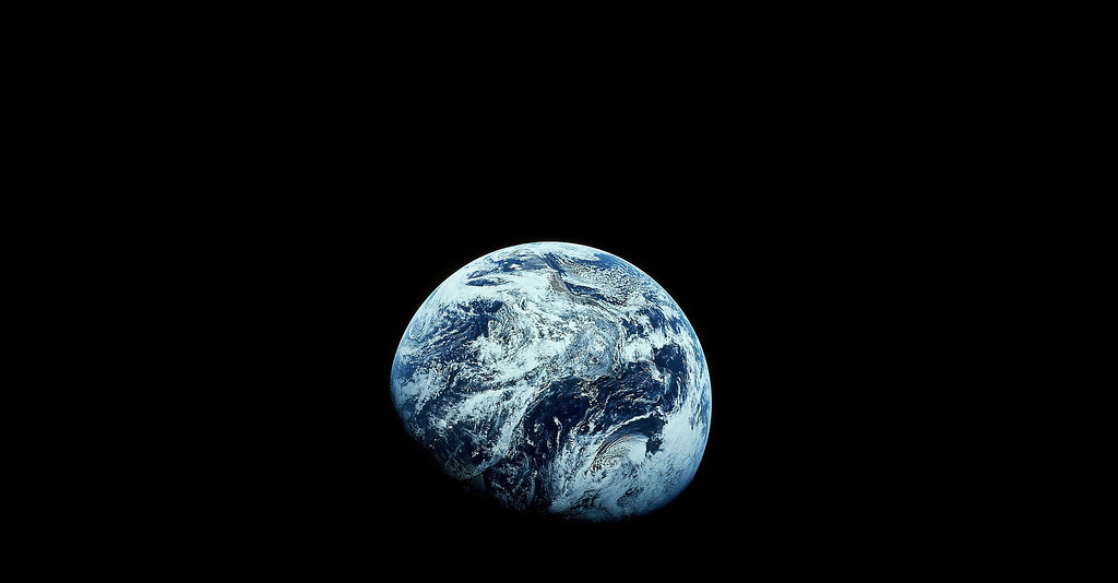 Description of . FILE - This December 1968 file photo provided by NASA shows Earth as seen from the Apollo 8 spacecraft. The images provided by the NASA mission were the first to how the planet in its entirety. NASA, the agency that epitomized the