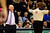 Denver Nuggets head coach George Karl gets heated over a foul called on Denver Nuggets small forward Kenneth Faried (35) during the second half of the Nugget's 92-78 win at the Pepsi Center on Tuesday, January 1, 2013. AAron Ontiveroz, The Denver Post