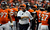 Denver Broncos head coach John Fox is all smiles in the third quarter.  The Denver Broncos vs The Tampa Bay Buccaneers at Sports Authority Field Sunday December 2, 2012. Tim Rasmussen, The Denver Post