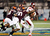 Defensive end Dadi Nicolas #90 of the Virginia Tech Hokies tackles receiver Brandon Coleman #17 of the Rutgers Scarlet Knights during the Russell Athletic Bowl Game at the Florida Citrus Bowl on December 28, 2012 in Orlando, Florida.  (Photo by J. Meric/Getty Images)