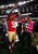 Clark Haggans #51 of the San Francisco 49ers and Katherine Webb of 'Inside Edition' dance during Super Bowl XLVII Media Day ahead of Super Bowl XLVII at the Mercedes-Benz Superdome on January 29, 2013 in New Orleans, Louisiana. The San Francisco 49ers will take on the Baltimore Ravens on February 3, 2013 at the Mercedes-Benz Superdome.  (Photo by Chris Graythen/Getty Images)