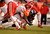 Denver Broncos running back Knowshon Moreno (27) is tackled in the third quarter as the Denver Broncos took on the Kansas City Chiefs at Sports Authority Field at Mile High in Denver, Colorado on December 30, 2012. John Leyba, The Denver Post
