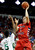Fresno State's Tyler Johnson shoots over Colorado State's Jonathan Octeus during the first half of a Mountain West Conference tournament NCAA college basketball game on Wednesday, March 13, 2013, in Las Vegas. (AP Photo/Isaac Brekken)