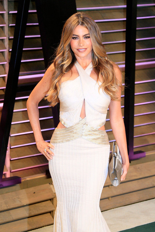 Description of . Sofia Vergara arrives for the Vanity Fair Oscar After-Party following the 86th annual Academy Awards ceremony in Hollywood, Los Angeles, California, USA, 02 March 2014.  EPA/NINA PROMMER