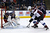 Nikita Nikitin #6 of the Columbus Blue Jackets helps deflect the shot from David Jones #54 of the Colorado Avalanche before it can reach Sergei Bobrovsky #72 of the Columbus Blue Jackets during the first period on March 3, 2013 at Nationwide Arena in Columbus, Ohio. (Photo by Kirk Irwin/Getty Images)