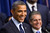 U.S. President Barack Obama smiles while speaking in the South Court Auditorium of the Eisenhower Executive Building next to the White House in Washington, D.C., U.S., on Monday, Dec. 31, 2012. Obama, backed by a group of of people described by the White House as