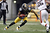Emmanuel Sanders #88 of the Pittsburgh Steelers runs after making a catch in the second half against the Cleveland Browns during the game on December 30, 2012 at Heinz Field in Pittsburgh, Pennsylvania.  The Steelers defeated the Browns 24-10.  (Photo by Justin K. Aller/Getty Images)