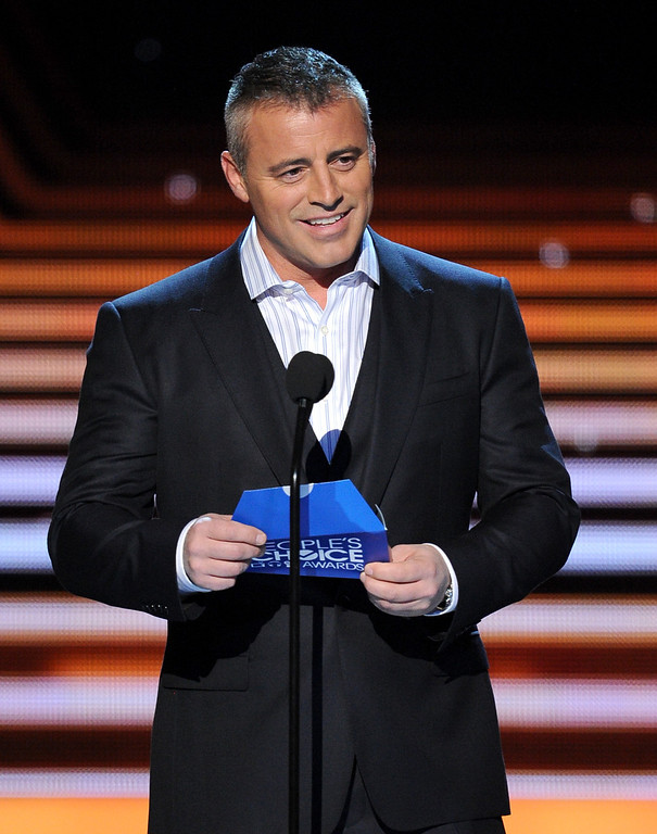 Description of . LOS ANGELES, CA - JANUARY 08:  Actor Matt Leblanc onstage at The 40th Annual People's Choice Awards at Nokia Theatre L.A. Live on January 8, 2014 in Los Angeles, California.  (Photo by Kevin Winter/Getty Images)