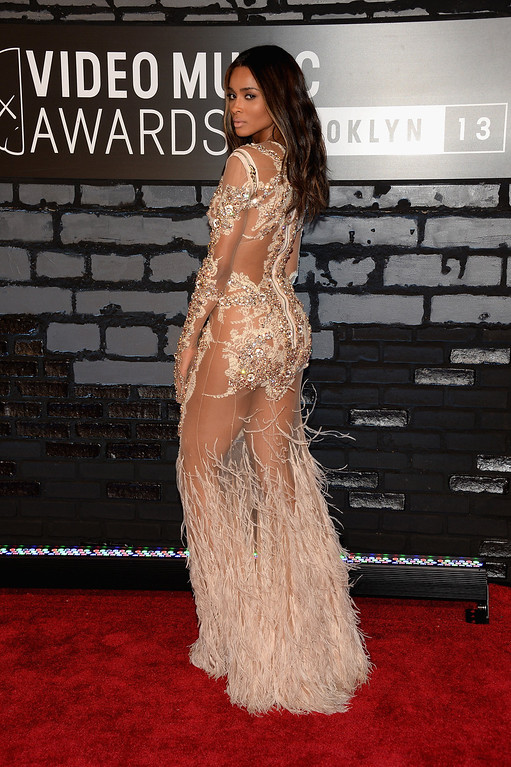 Description of . Ciara attends the 2013 MTV Video Music Awards at the Barclays Center on August 25, 2013 in the Brooklyn borough of New York City.  (Photo by Jamie McCarthy/Getty Images for MTV)