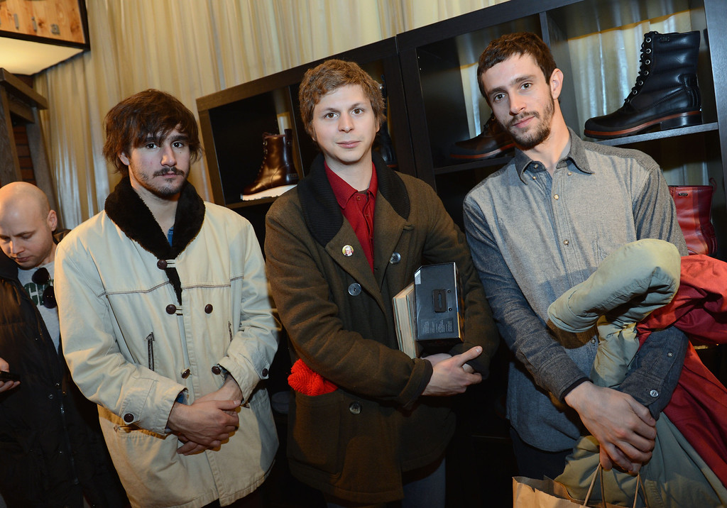 Description of . (L-R) Agustin Silva, Michael Cera and Juan Silva attend Day 1 of UGG at Village At The Lift 2013 on January 18, 2013 in Park City, Utah.  (Photo by Jason Kempin/Getty Images for UGG)