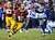 Washington Redskins running back Alfred Morris (46) gets away from Dallas Cowboys strong safety Eric Frampton (27) during the second half of an NFL football game Sunday, Dec. 30, 2012, in Landover, Md. The Redskins won 28-18. (AP Photo/Nick Wass)