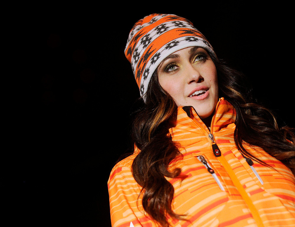 Description of . Closeup of Killtec  orange jacket with a  Screamer native print cap, as the SIA Snow Show hosted its 2013 Snow Fashion & Trends Show at the Colorado Convention Center  in downtown Denver  on Wednesday, January 30, 2013.  (Photo By Cyrus McCrimmon / The Denver Post)