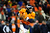 Denver Broncos quarterback Peyton Manning (18) looks to pass in overtime. The Denver Broncos vs Baltimore Ravens AFC Divisional playoff game at Sports Authority Field Saturday January 12, 2013. (Photo by AAron  Ontiveroz,/The Denver Post)