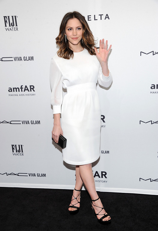Description of . Actress Katharine McPhee attends amfAR's New York gala at Cipriani Wall Street on Wednesday, Feb. 6, 2013 in New York. (Photo by Evan Agostini/Invision/AP)