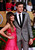 Actors Lea Michele and Cory Monteith of the TV series 