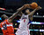 Washington Wizards center Emeka Okafor, left, blocks the shot of Los Angeles Clippers center DeAndre Jordan during the first half of their NBA basketball game, Saturday, Jan. 19, 2013, in Los Angeles.  (AP Photo/Mark J. Terrill)