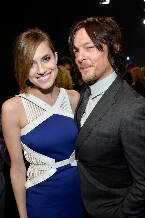Description of . LOS ANGELES, CA - JANUARY 08:  Actors Allison Williams and Norman Reedus attend The 40th Annual People's Choice Awards at Nokia Theatre L.A. Live on January 8, 2014 in Los Angeles, California.  (Photo by Frazer Harrison/Getty Images for The People's Choice Awards)