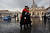Italian guards walk in St. Peter's Square as poeple wait for smoke to emanate from the chimney on the roof of the Sistine Chapel which will indicate whether or not the College of Cardinals have elected a new Pope on March 13, 2013 in Vatican City, Vatican.  (Photo by Spencer Platt/Getty Images)