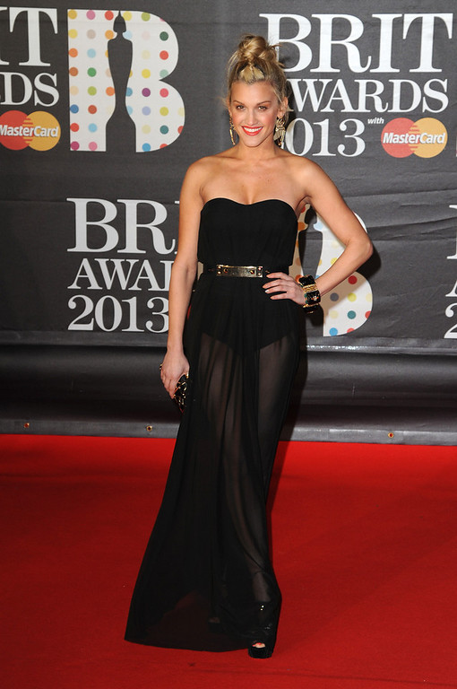 Description of . Ashley Roberts attends the Brit Awards 2013 at the 02 Arena on February 20, 2013 in London, England.  (Photo by Eamonn McCormack/Getty Images)
