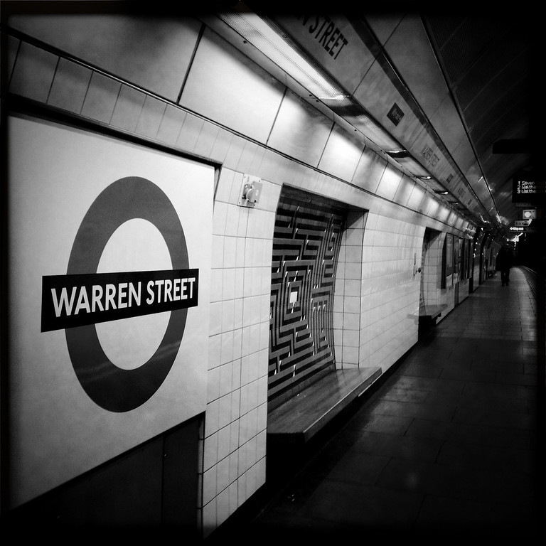 Description of . A general view of Warren Street underground station on May 1, 2012 in London, England. Shot in April 2012 ahead of the London 2012 Olympics. (Photo by Vittorio Zunino Celotto/Getty Images)