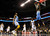 Denver Nuggets small forward Kenneth Faried (35) works to dunk the ball over Charlotte Bobcats point guard Kemba Walker (15) during the first half of their NBA basketball game in Charlotte, North Carolina February 23, 2013. REUTERS/Chris Keane