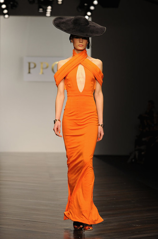 . A model walks the runway at the PPQ show during London Fashion Week Fall/Winter 2013/14 at Somerset House on February 15, 2013 in London, England.  (Photo by Eamonn McCormack/Getty Images)